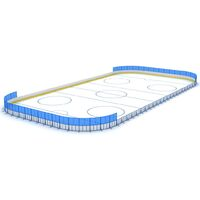 Хоккейная коробка (борт из стеклопластика) 15х30